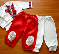 Вышитый трикотажный комплект в этно стиле для мальчика
