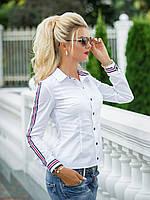 Рубашка в белом цвете с лампасами, фото 1