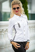 Белая рубашка с лампасами Инна, фото 1