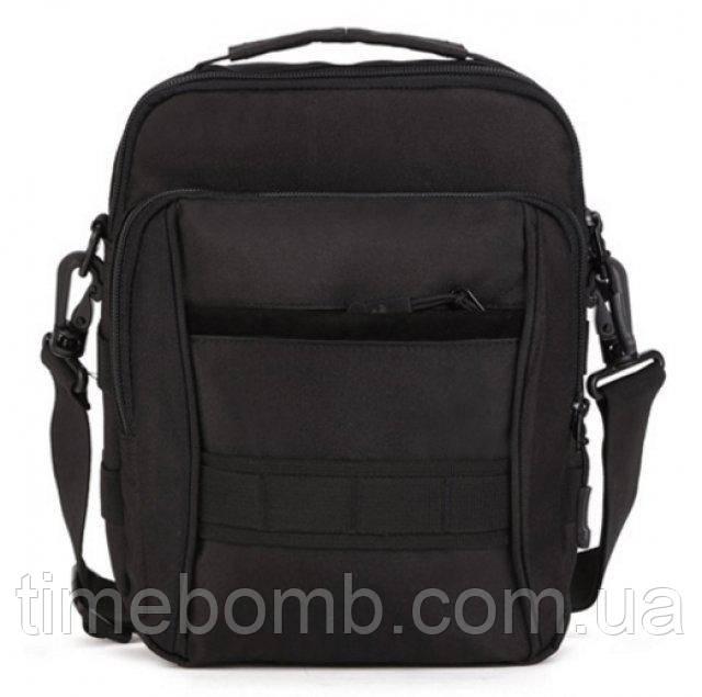 Армейская мужская наплечная сумка барсетка черная