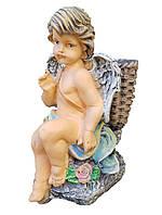 Фигура с кашпо Ангел с корзиной 33 см