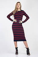 Ультрамодное вязанное платье в полоску