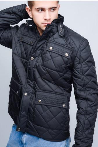 Весенняя  молодежная мужская куртка стеганая  46-56 синий