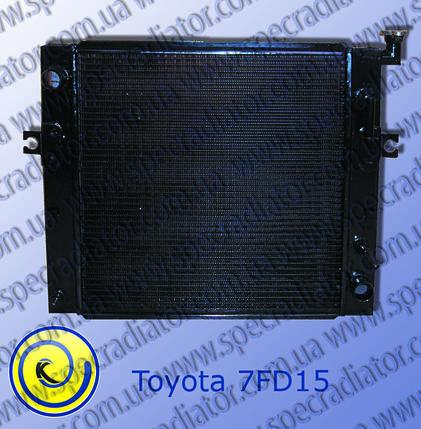 Радиатор с водяным охлаждением погрузчика  TOYOTA 7FD15, фото 2
