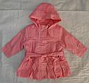 Детская куртка с подстежкой ASIA для девочки розовая р. 80-104 см (QuadriFoglio, Польша), фото 2