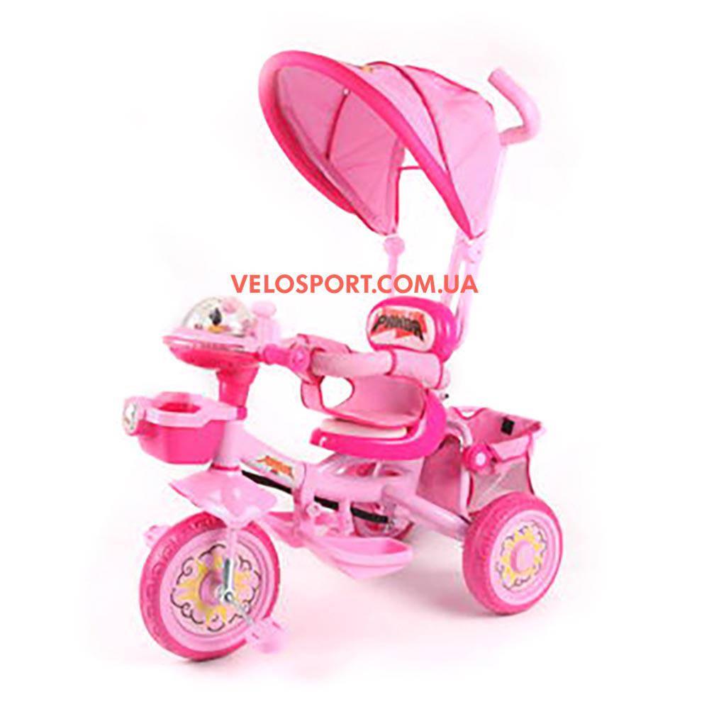 Детский трехколесный велосипед Baby Club Кунг-фу панда розовый