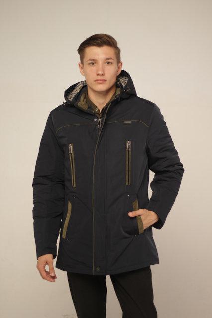 Демисезонная молодежная мужская куртка парка от производителя 48-54 синий