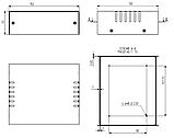 Корпус металевий MB-4 (Ш150 Г130 В50) металік, RAL9006(Metallic textured), фото 3