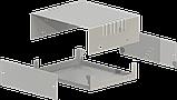 Корпус металевий MB-4 (Ш150 Г130 В50) металік, RAL9006(Metallic textured), фото 2