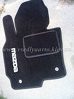 Ворсовые коврики в салон MAZDA CX-5 (Черные)