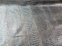 Кожзаменитель крокодил золотой, фото 1