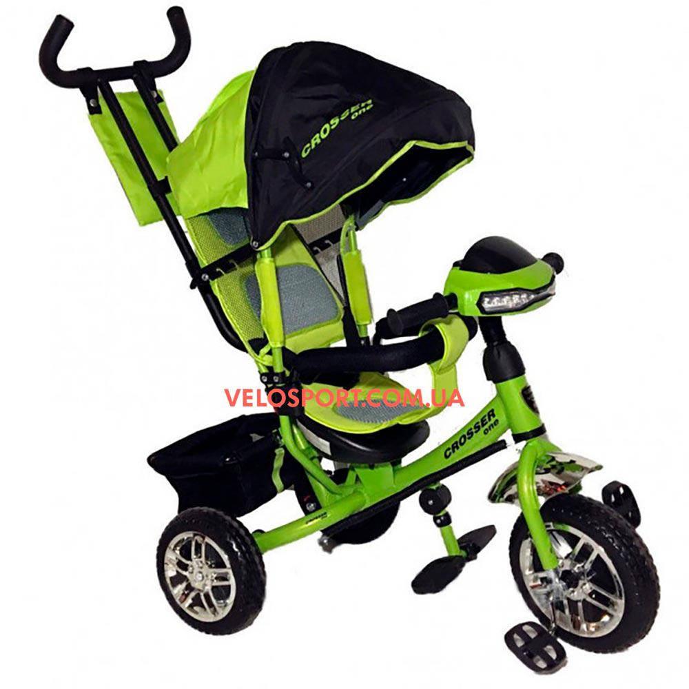 Детский трехколесный велосипед Crosser One T-1 зеленый