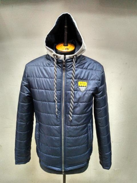 Модная демисезонная мужская молодежная  куртка    48-58 черный