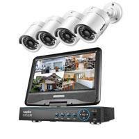 Видеорегистратор + монитор + 4 камеры WiFi
