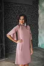 Платье женское свободного кроя с рукавами-воланами