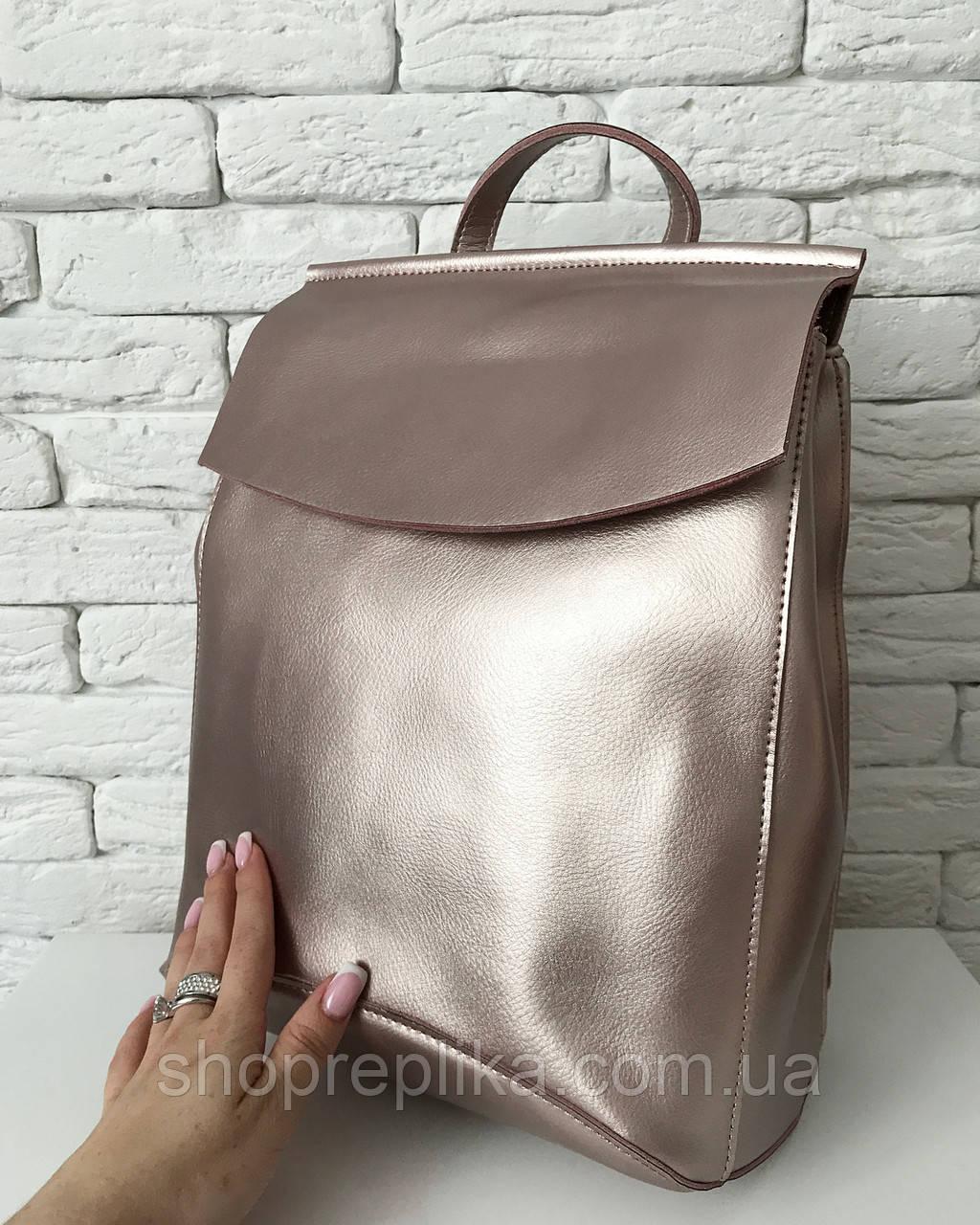 Сумка рюкзак трансформер , рюкзак кожа пудра , фото 1