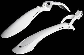 Крылья велосипедные Simpla Hammer 2 SDE комплект белый(A-B-0066)