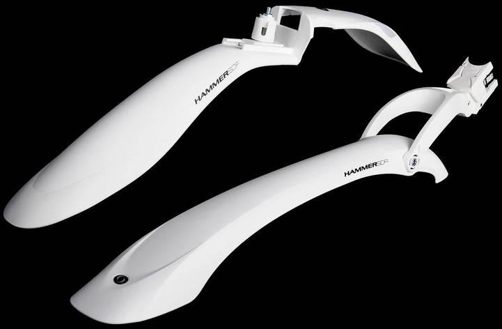 Крылья велосипедные Simpla Hammer 2 SDE комплект белый(A-B-0066), фото 2