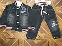 Детский джинсовый костюм 3-ка для мальчика 1 год Турция