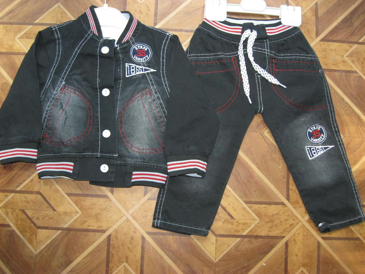 Детский джинсовый костюм 3-ка для мальчика 1 год Турция   продажа ... b38b631e468