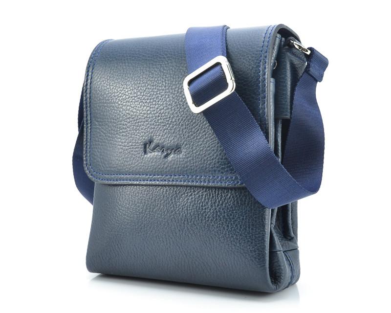 Мужская сумка синего цвета Karya 0576-44 (Турция)