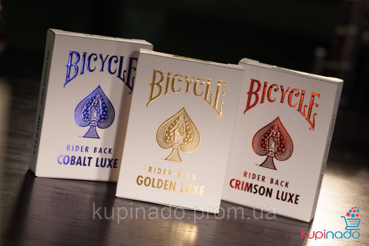 Карты Bicycle MetalLux Crimson Luxe