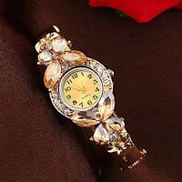 Женские часы / браслет Geneva бабочки коричневые камни