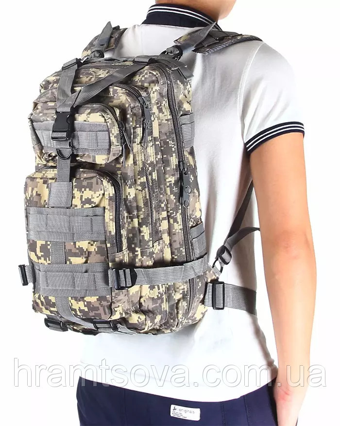Тактический рюкзак, штурмовой Abrams. Городской рюкзак на 25 литров.