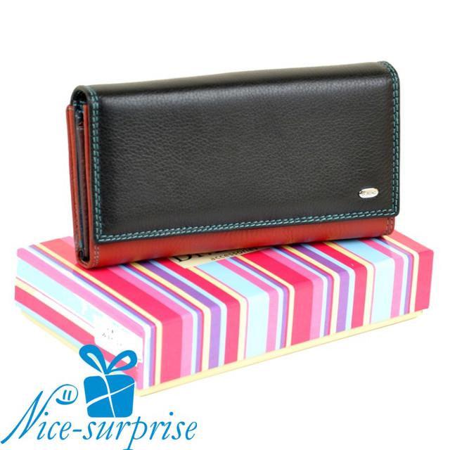 66ad8d6988fb Кожаный женский кошелёк на кнопке Dr.Bond WR-46 black - Купить ...