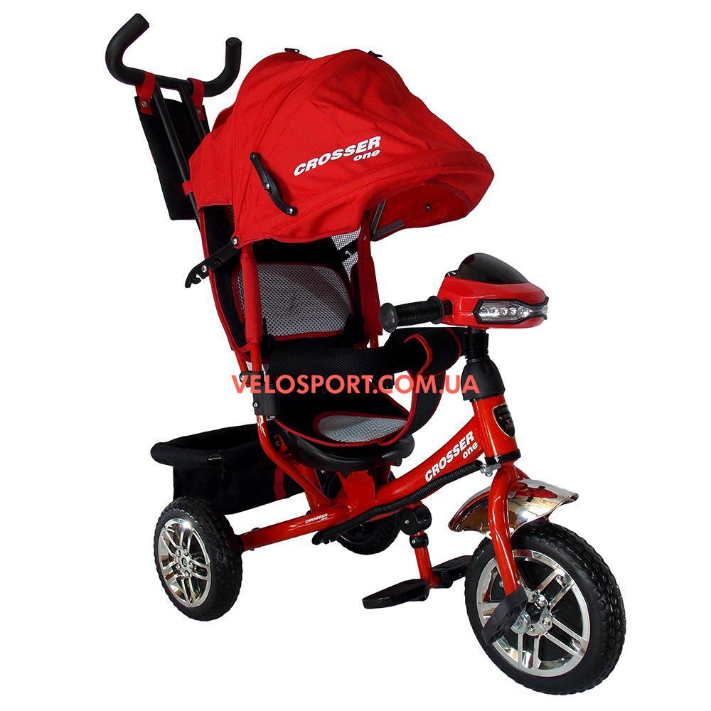 Детский трехколесный велосипед Crosser One T-1 красный