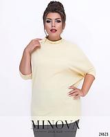 Удлиненная блуза с короткими рукавам большого размера недорого в интернет магазине Украина Россия СНГ р. 48-56