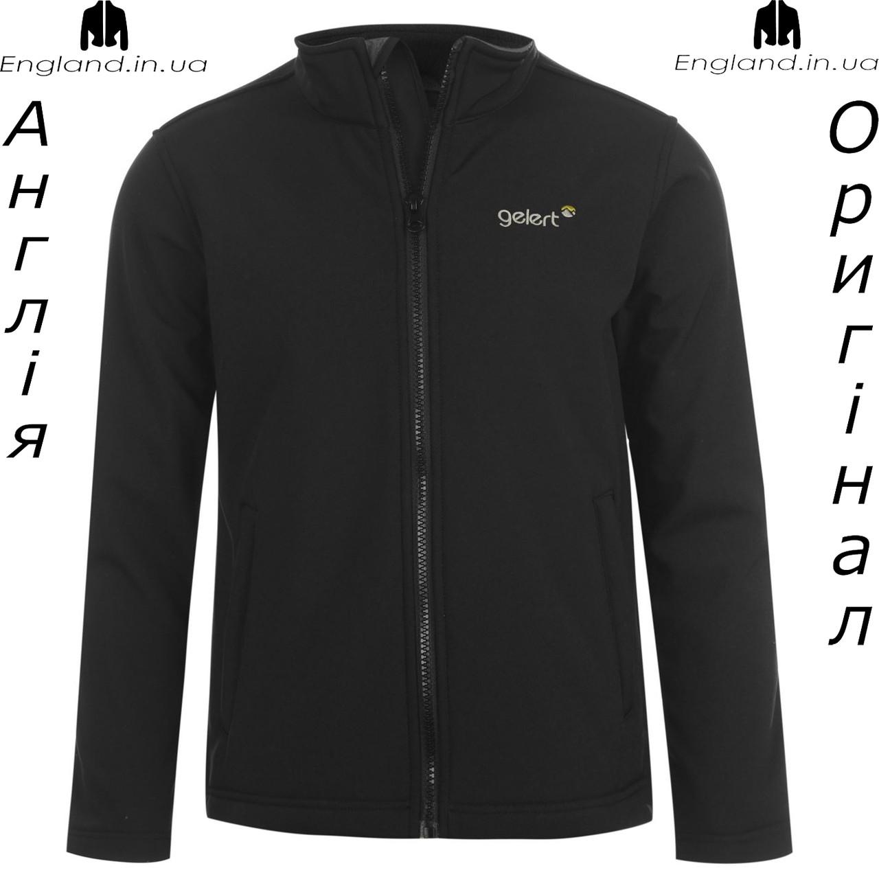 Куртка мягкая Gelert из Англии для мальчиков 2-14 лет - черная