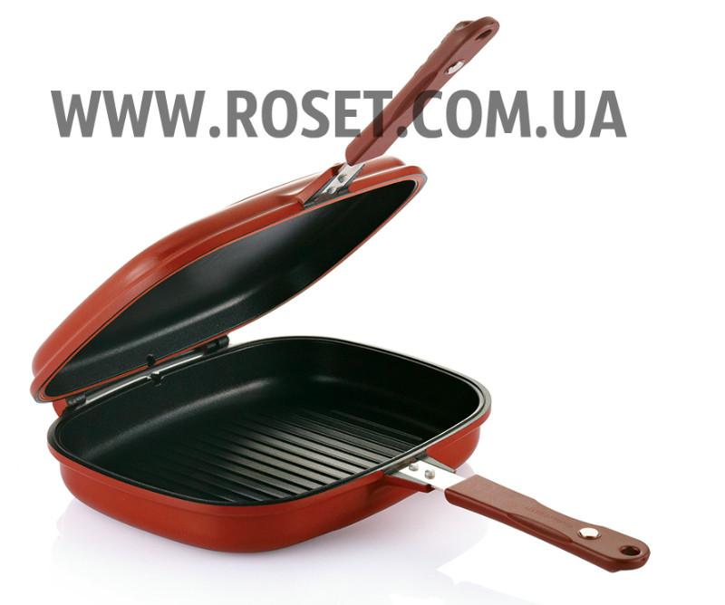 Подвійна сковорода-гриль - ITATA Double Sided Grill Fry Pan 32 см