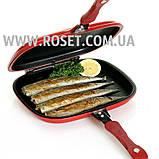 Подвійна сковорода-гриль - ITATA Double Sided Grill Fry Pan 32 см, фото 5