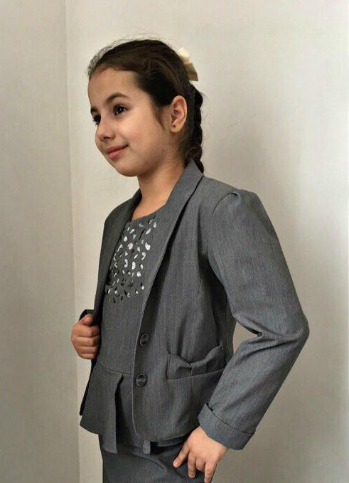 Стильный пиджак на девочку Детский