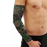 Компрессионная защитная повязка на локтевой сустав «Recovery» цвет хаки (1 шт), фото 1