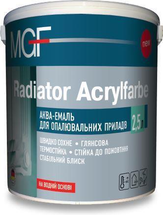 Аква-емаль для опалювальних приладів Radiator Acrylfarbe MGF 0,75 л
