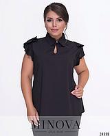 Блуза прямого кроя большого размера недорого в интернет магазине Украина Россия СНГ р. 52-56
