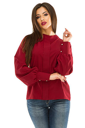 Блузка 279  бордо размер 44, фото 2