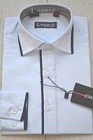 Приталенная детская белая рубашка от 12 до 14 лет