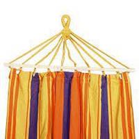 Гамак радужный  200х100 см подвесной, хлопковый, с планкой до 180 кг, гамак мексиканский, гамак летний, фото 1