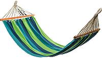 Гамак 200х100 см подвесной, хлопковый, с планкой до 180 кг, гамак мексиканский, гамак летний, фото 1