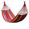 Гамак 200х100 см подвесной, хлопковый, с планкой до 180 кг, гамак мексиканский, гамак летний