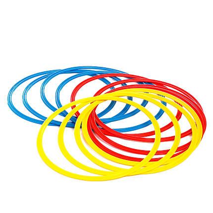 Кольца тренировочные (комплект 12 шт, 3 цвета, 40см) + сумка, фото 2