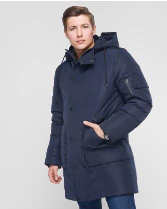 Зимняя куртка парка мужская молодежная от производителя   44-52 синий