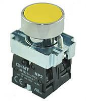 Кнопка NP2-BA54 металл 2NC AC 6V-230V жёлтая