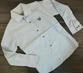 Рубашка для мальчиков с длинным рукавом Белый Хлопок Турция рост 140 см, 10 лет