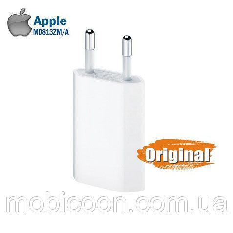 Оригинальный сетевой адаптер Apple USB Power Adapter для iPhone 4, 5/5S, 6/6S, 6/6S Plus, 7/7 Plus, iPod, фото 1