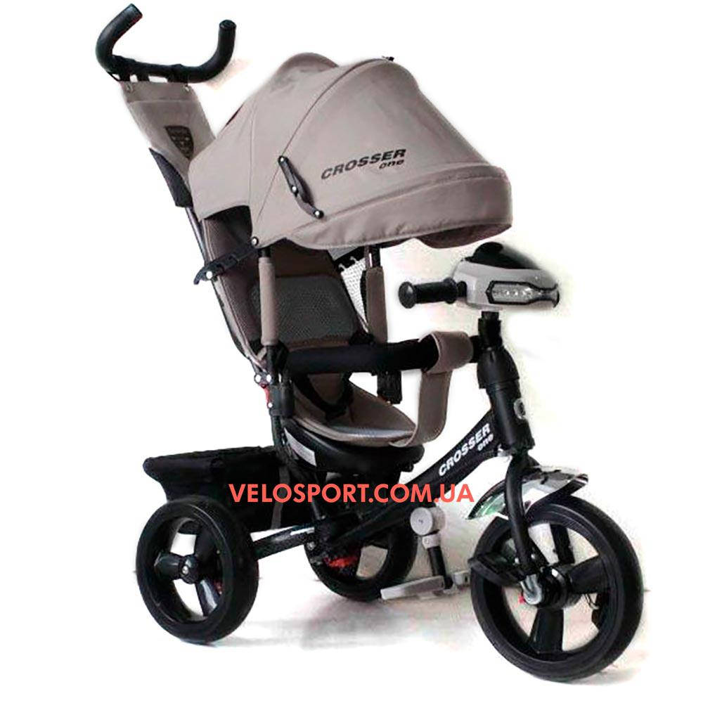 Детский трехколесный велосипед Crosser T-1 EVA серый