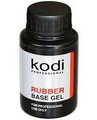 Базовое покрытие 30 мл KODI Rubber Base Gel на гель лак, для наращивания ногтей База коди
